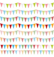 Party bunting vector image