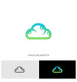 people cloud logo design concept modern cloud vector image vector image