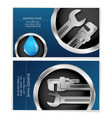 plumber business card concept vector image vector image