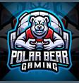 polar bear gaming esport mascot logo design vector image
