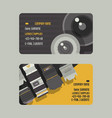 professional zoom photo lens and supplies for vector image vector image