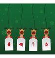 Reindeer Label vector image vector image