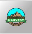 retro vintage wheat grain rice farm logo design vector image vector image