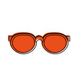 round frame sunglasses icon image vector image vector image