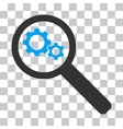 Search Gears Tool Icon vector image vector image