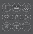 set gymnastics icons vector image