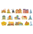set of various houses vector image