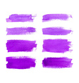 Set of watercolor stripes vector image vector image