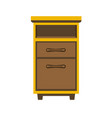 small wooden bedside chest vector image vector image