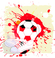 soccer abstract vector image