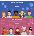 Social Network Banners Set vector image vector image