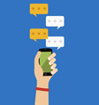 social phone chat vector image