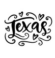 texas modern city hand written brush lettering vector image