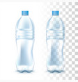 transparent plastic bottle vector image vector image