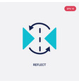 two color reflect icon from creative pocess vector image vector image