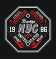 Typography design nyc brooklyn for t shirt