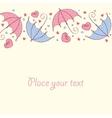 umbrella love card vector image vector image