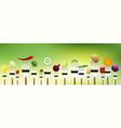 vegetables on forks vector image