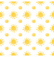 yellow marker sun seamless pattern vector image vector image