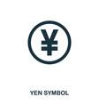 yen symbol icon mobile app printing web site vector image vector image