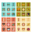 assembly flat icons gay symbols vector image