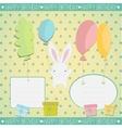 Little white bunny Birthday gift vector image