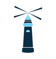 sea lighthouse icon marine navigation vector image