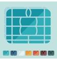 Flat design chip card vector image