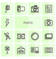 14 photo icons vector image vector image