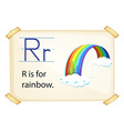 A letter R for rainbow vector image vector image