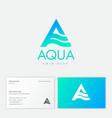aqua a monogram cosmetics clothes spa water vector image