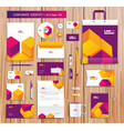 artistic corporate identity template with color vector image vector image