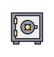 bank safe money deposit security box vector image vector image