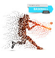 baseball player - color dot vector image