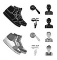 basketball and attributes blackmonochrom icons in vector image vector image