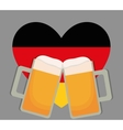 Beer Oktoberfest flag heart icon Germany vector image vector image