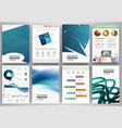 blue abstract business backgrounds and abstract vector image vector image