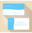 blue and white simple business card design eps10 vector image vector image