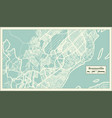 brazzaville congo city map in retro style outline vector image vector image
