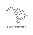 bulky delivery line icon bulky delivery vector image