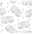 buses hand drawn backdrop black and white vector image vector image