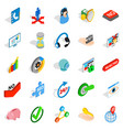 business payment icons set isometric style vector image vector image