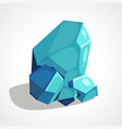 cartoon crystal gemstone vector image vector image