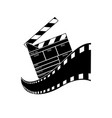 clapperboard isolated on white background vector image vector image
