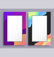 colorful empty vertical frames with bright stains vector image vector image