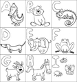Coloring book with alphabet vector image vector image