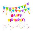 confetti background birthday concept vector image