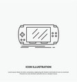 console device game gaming psp icon line gray vector image vector image