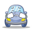 crying cute car character cartoon vector image vector image
