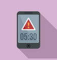deadline phone alarm icon flat style vector image vector image